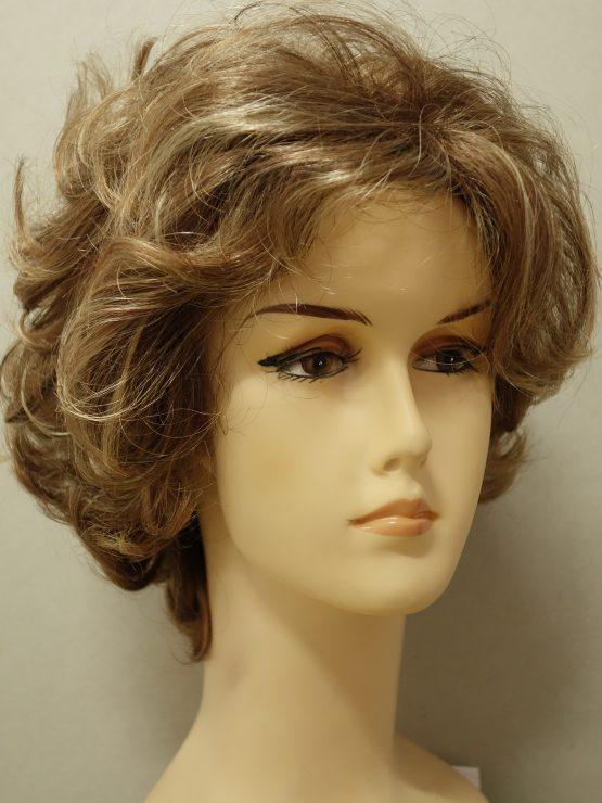 Krótka peruka kręcona w kolorze blond