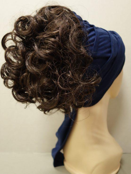 Włosy na opasce - krótkie kręcone brąz