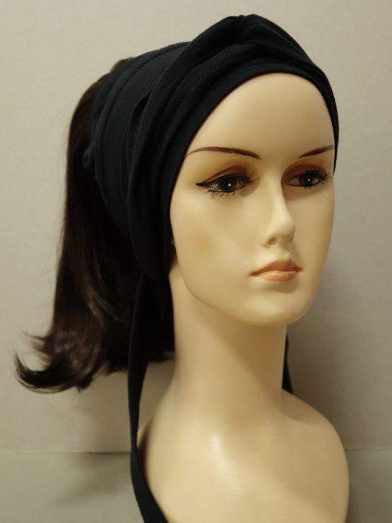 Włosy na opasce - półdługie czekoladowe