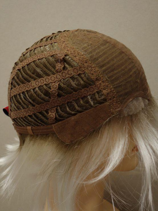 Krótka peruka biały blond na ciemniejszej podstawie