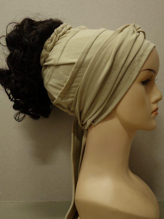 Włosy na opasce - krótkie kręcone ciemny brąz
