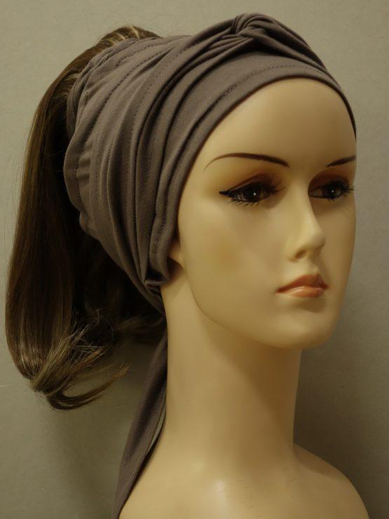 Włosy na opasce - półdługie ciemny blond z refleksami na opasce