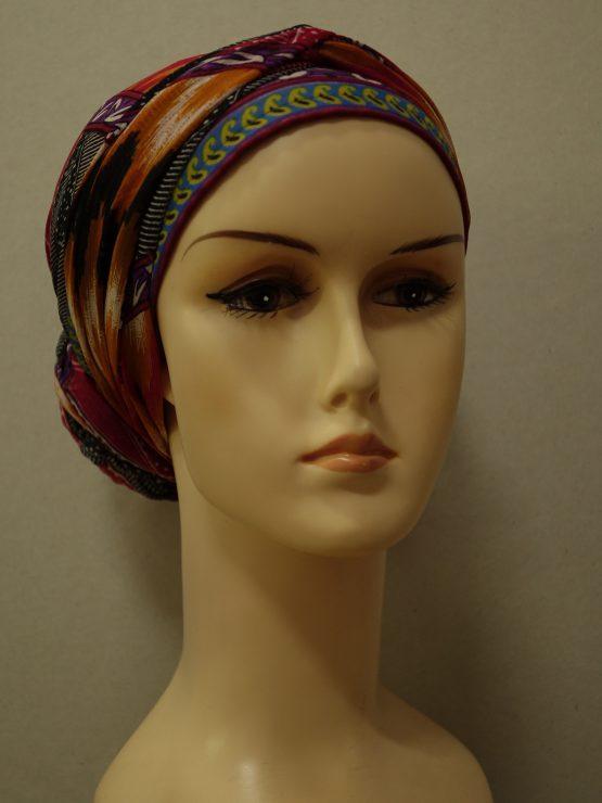 Kolorowy turban w indyjskie wzory
