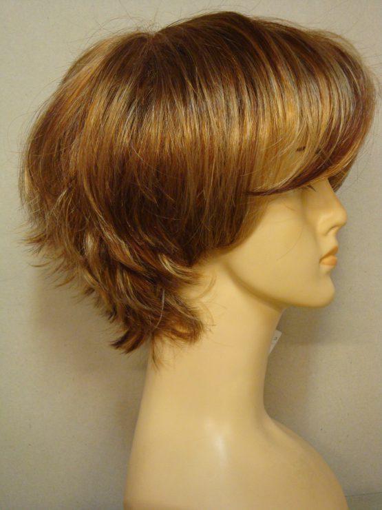 Krótka peruka mix blondów i rudości pocieniowana