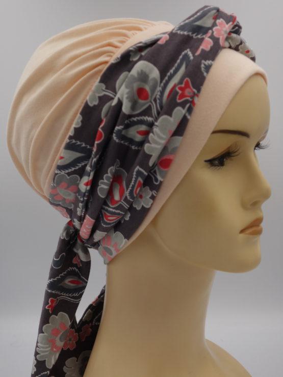 Brzoskwiniowa chusta modny wzór