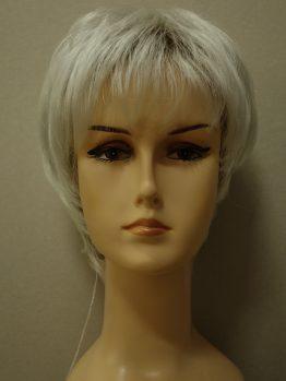 Krótka peruka siwa biel na ciemniejszej podstawie