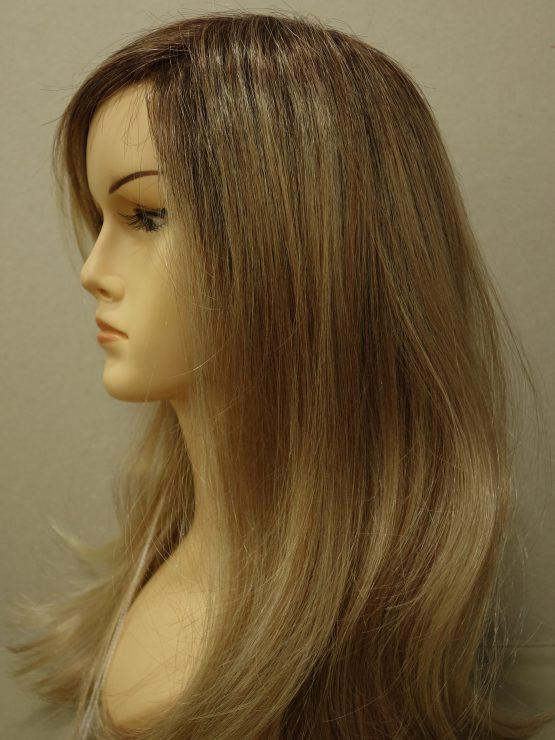 Długa peruka blond na ciemniejszej podstawie