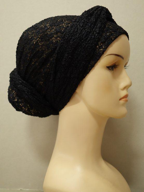 Czarny turban