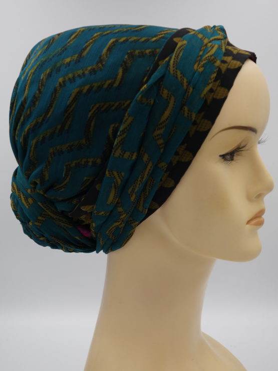 Morski turban w słoneczne wzory
