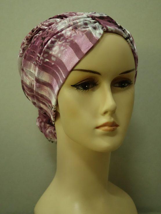 Kolorowy drapowany turban w maziaje