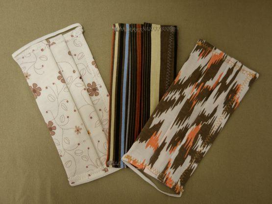 Maseczki wykonane z podwójnej warstwy bawełny (zestaw 3 sztuk).