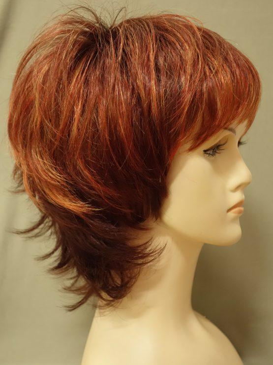Krótka peruka ruda z refleksami