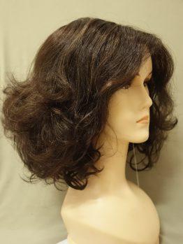Krótka kręcona peruka ciemny brąz