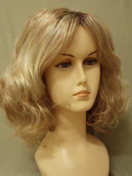 Krótka kręcona peruka różne odcienie blondu