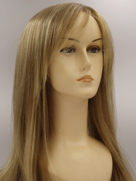 Długa peruka złoty blond z refleksami