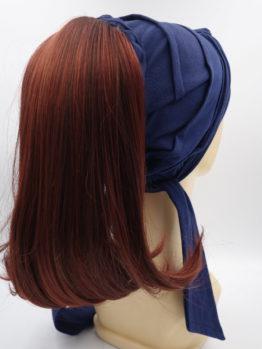 Włosy na opasce - rude, półdługie, proste
