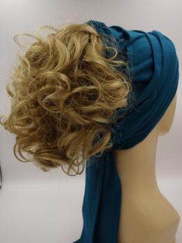 Włosy na opasce - złoty blond, krótkie, kręcone