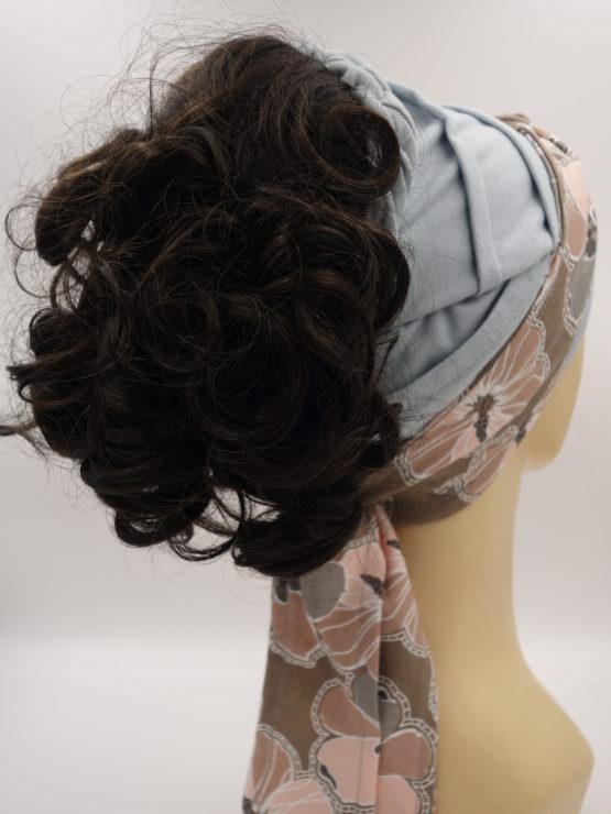 Włosy na opasce - ciemny brąz, półdługie, kręcone