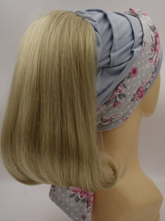 Włosy na opasce - blond z refleksami, długie, proste