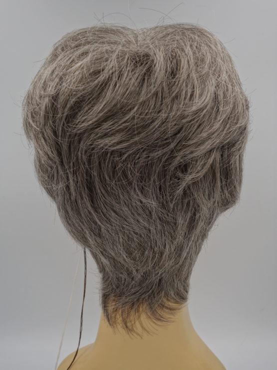 Krótka peruka siwy popiel