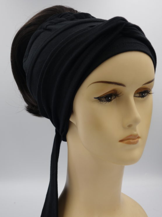 Włosy na opasce - ciemny brąz, krótkie, proste