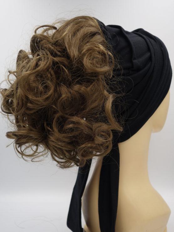 Włosy na opasce - brąz, krótkie, kręcone