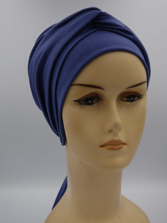 Niebieska chusta modny wzór