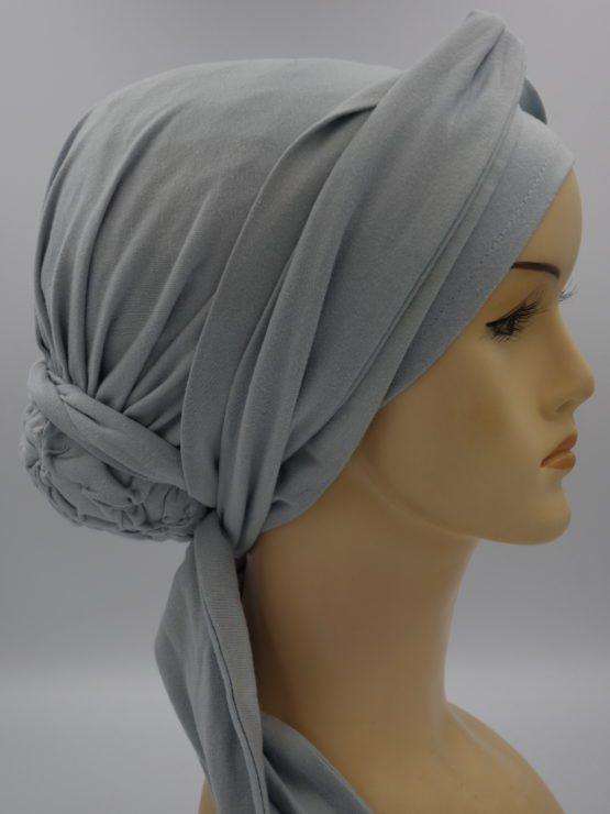 Popielaty turban